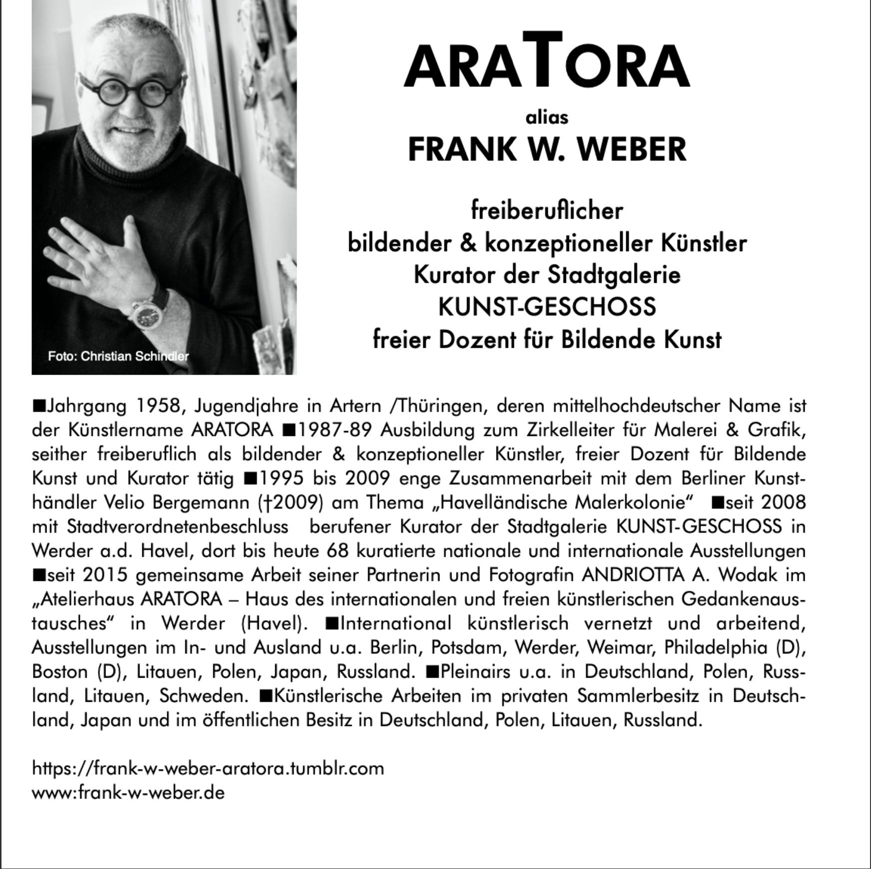 Künstler Frank W. Weber, SchlossGalerie Haape