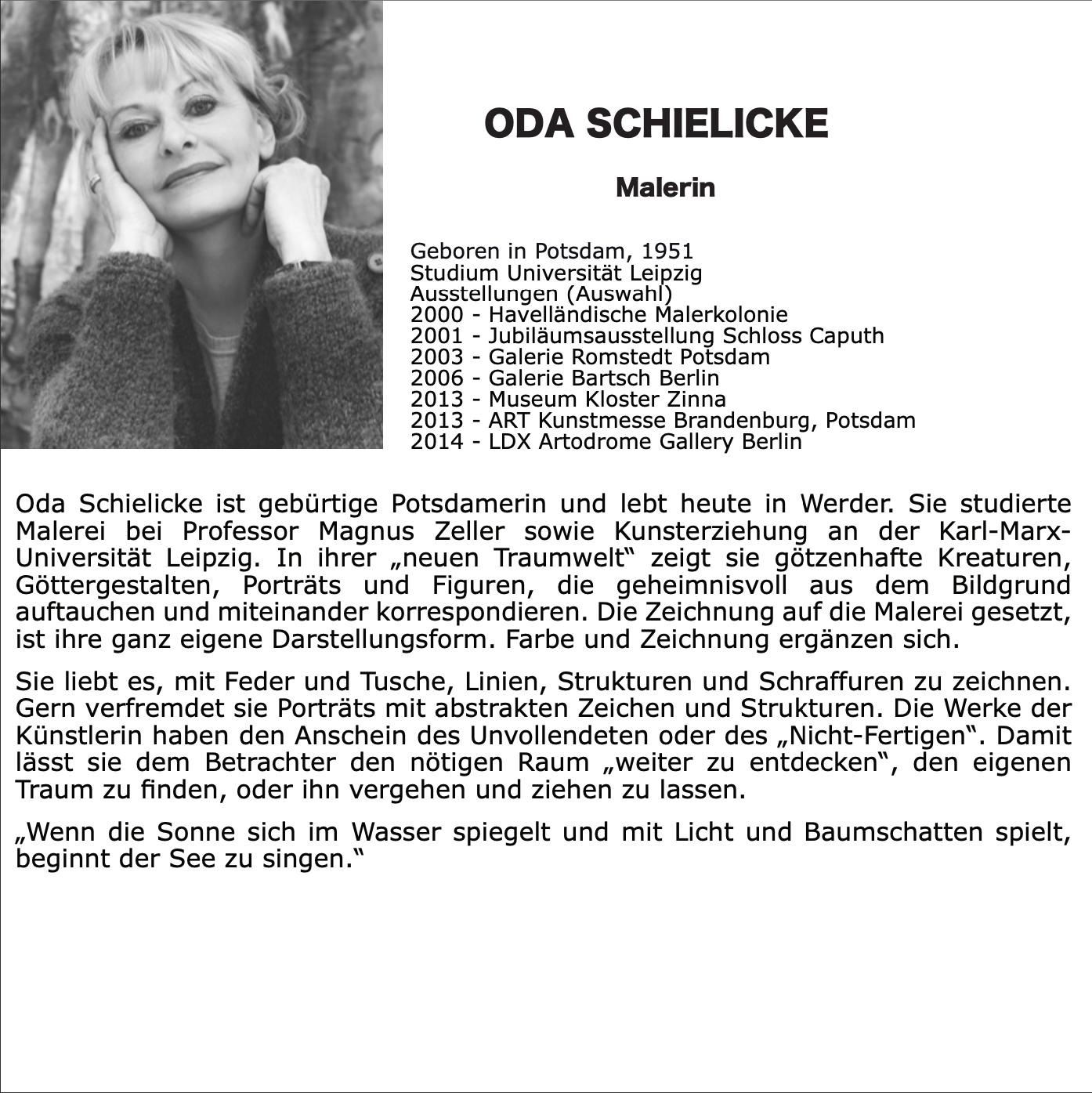 Künstlerin Oda Schilicke, SchlosGalerie Haape